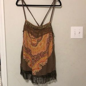 Multicolored free people tank top